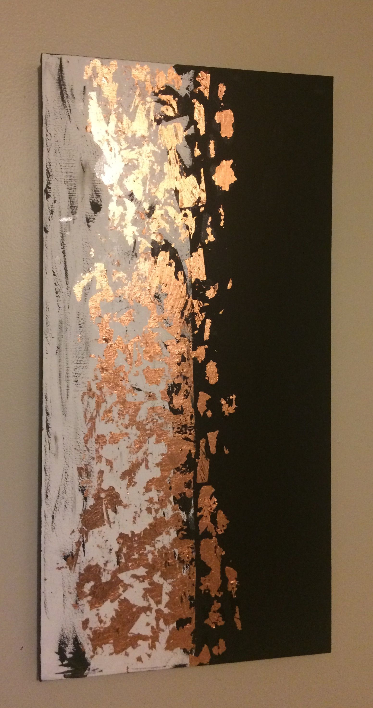 Copper Leaf Gold Leaf Painting I Made You Can Use Any Color
