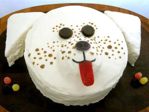 Just A Cake Decoration Idea For The Puppy Themed Birthday Party