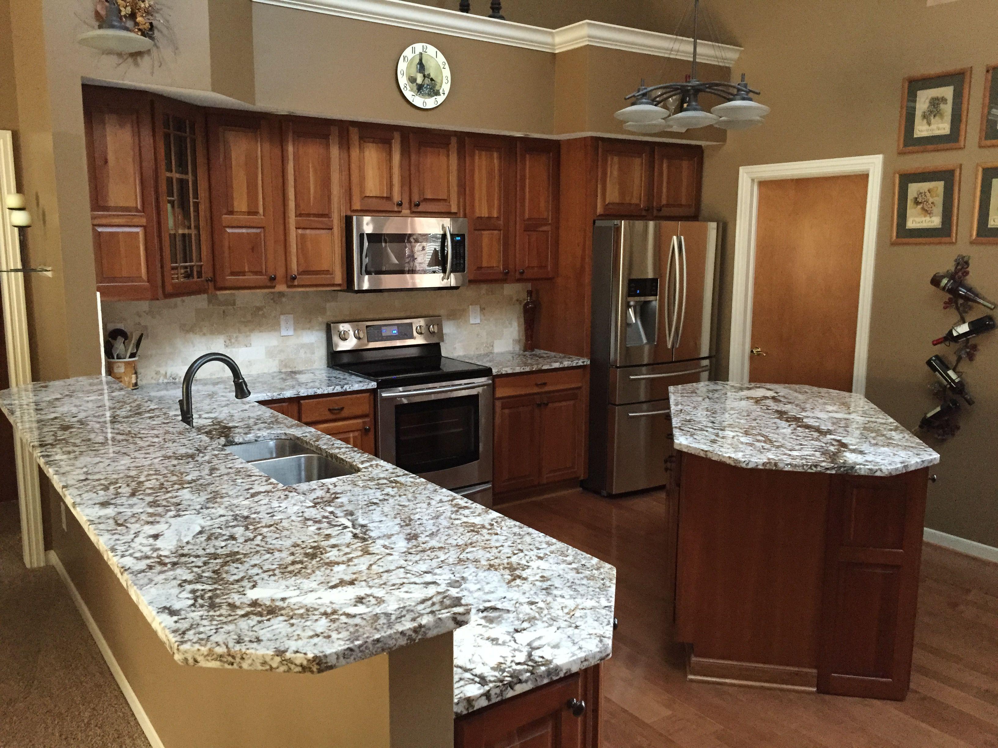 Brown Persa Granite Kitchen Remodel Granite Kitchen Kitchen Dining