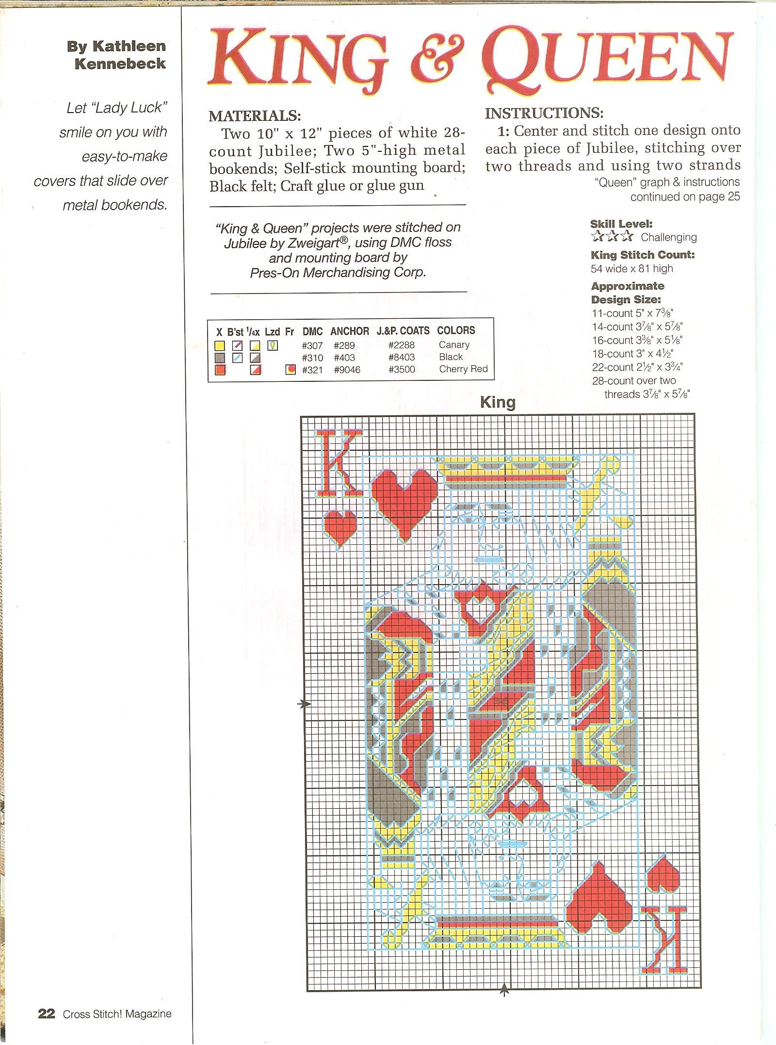 Chart Counted Cross Stitch Patterns Needlework DIY DMC Color Three Kings