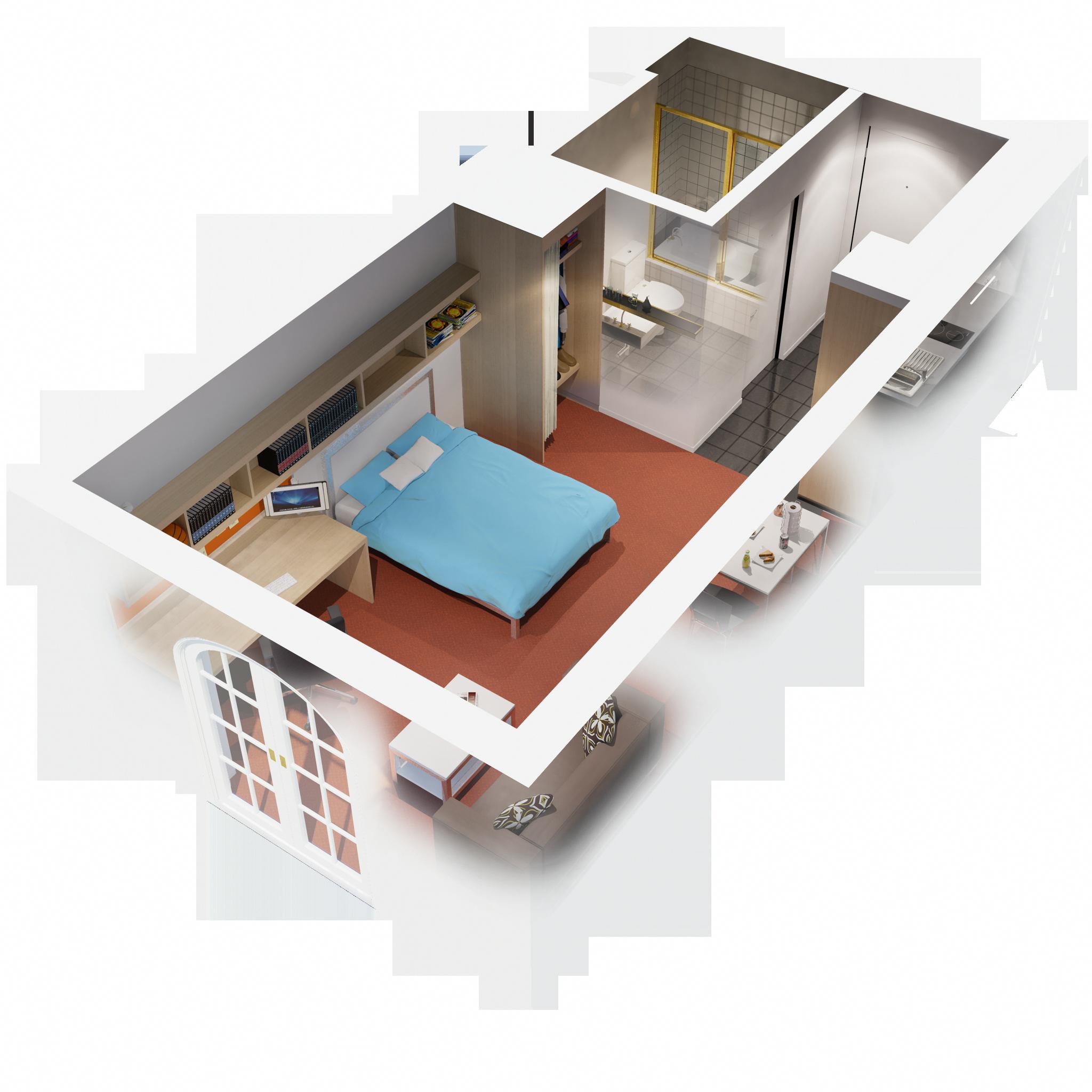 Nice 1 Bedroom Apartments: Apartments, 3d Floor Plan 1 Bedroom Apartment Design Idea