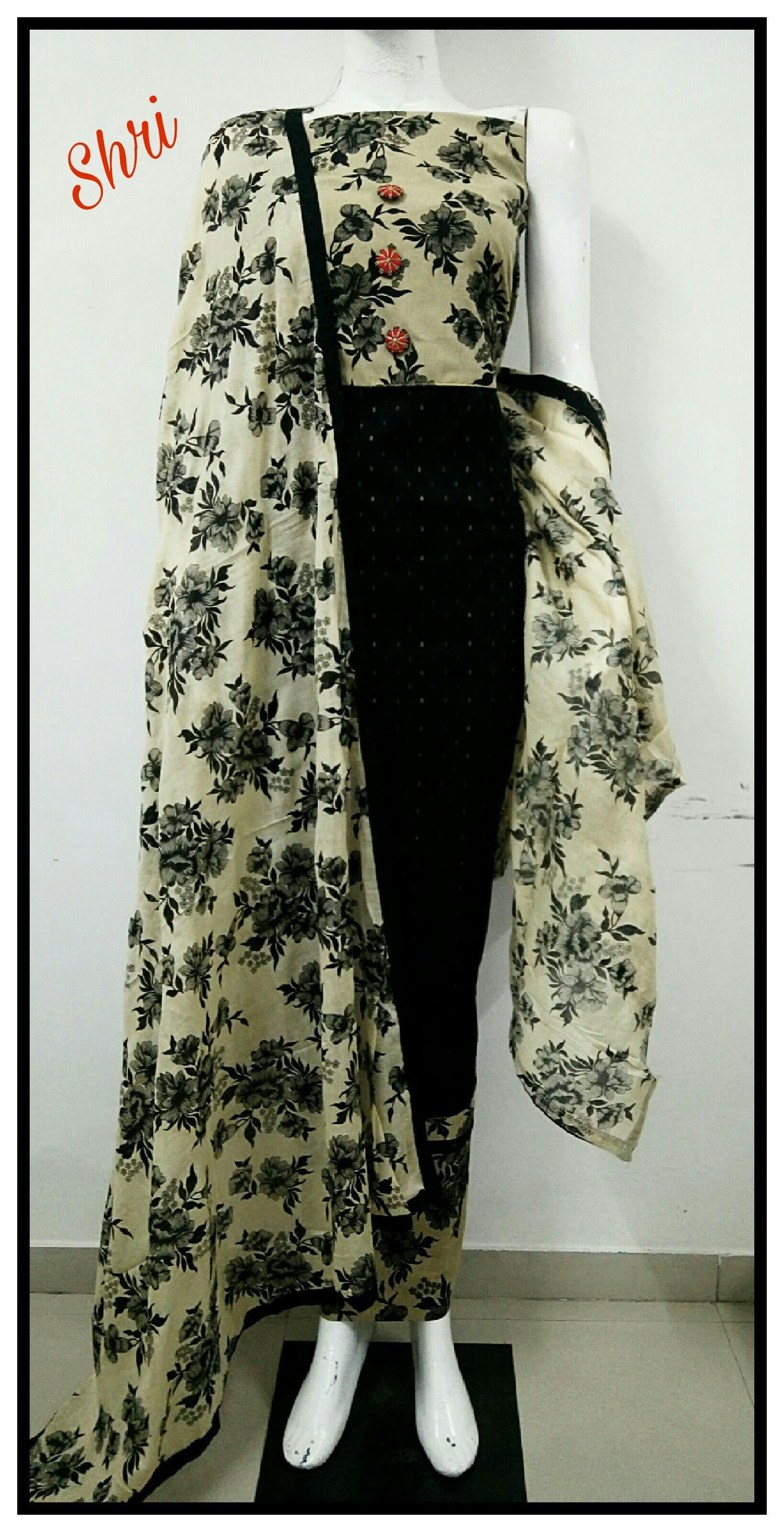Shri Designer Pure Cotton Kalamkari Non Catalogue Dress Materials