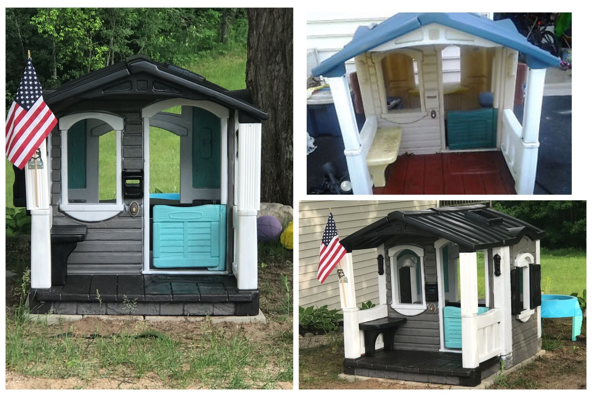 Step 2 Front Porch Playhouse Redo Play Houses Outdoor Yard Ideas Dream Backyard
