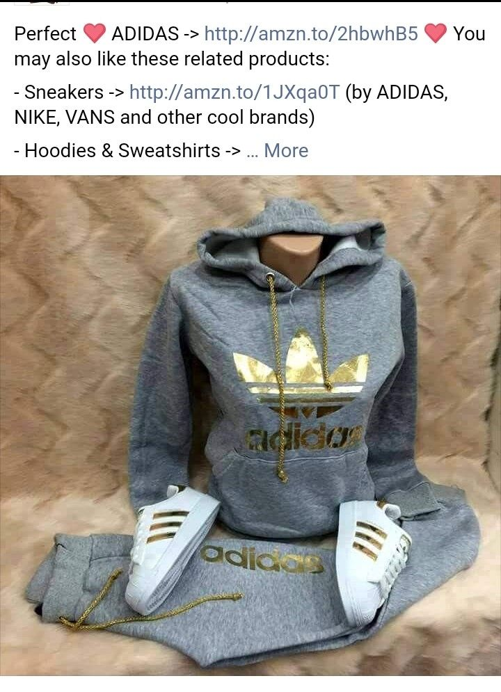 jumpsuit grey adidas pants jacket hoodie tracksuit | outfits
