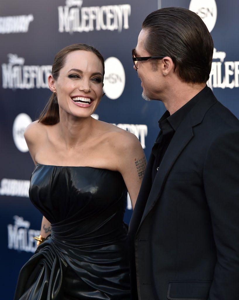 Angelina Jolie and Brad Pitt,so sweet
