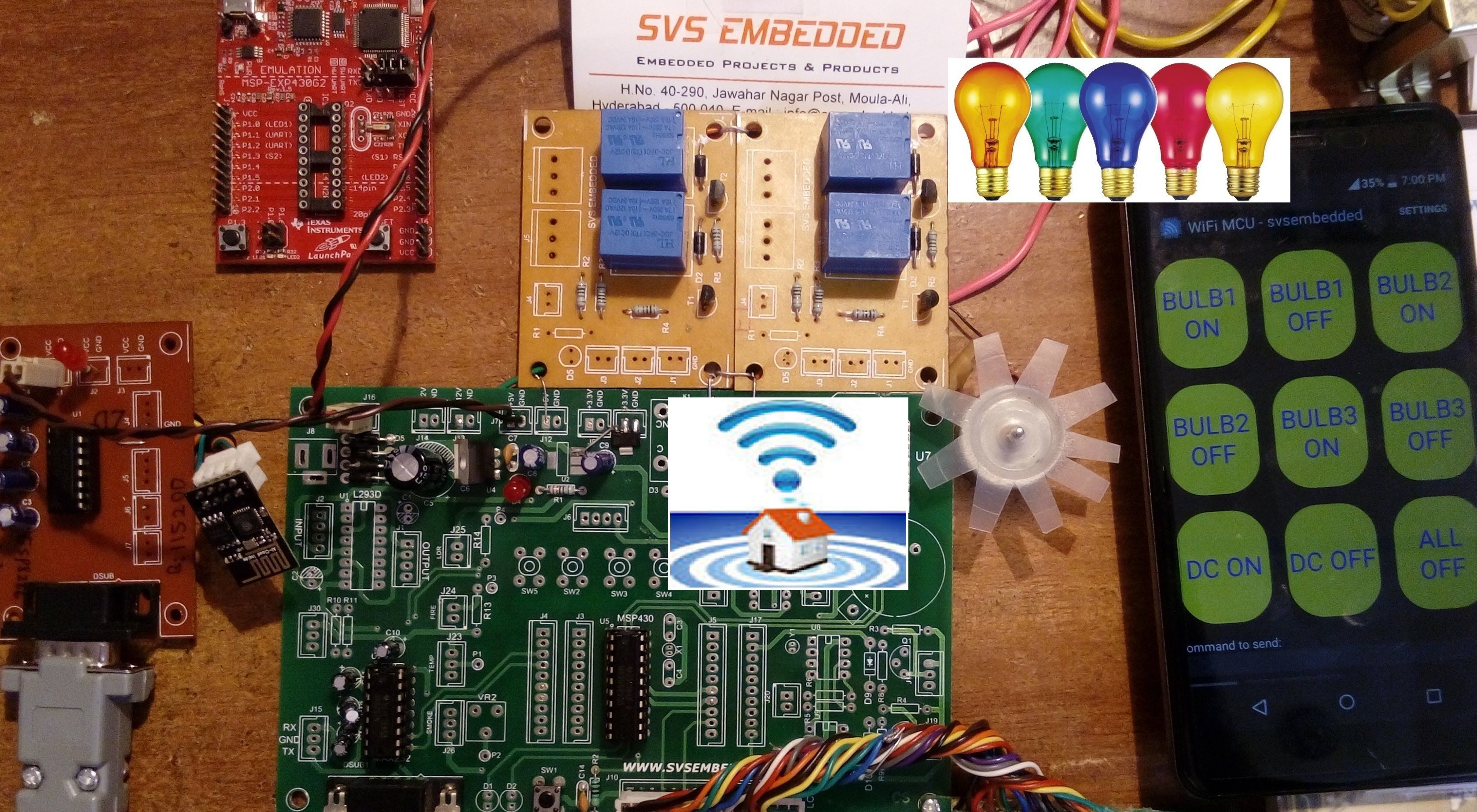 ESP8266 Home Automation: MSP430 Based Android Home