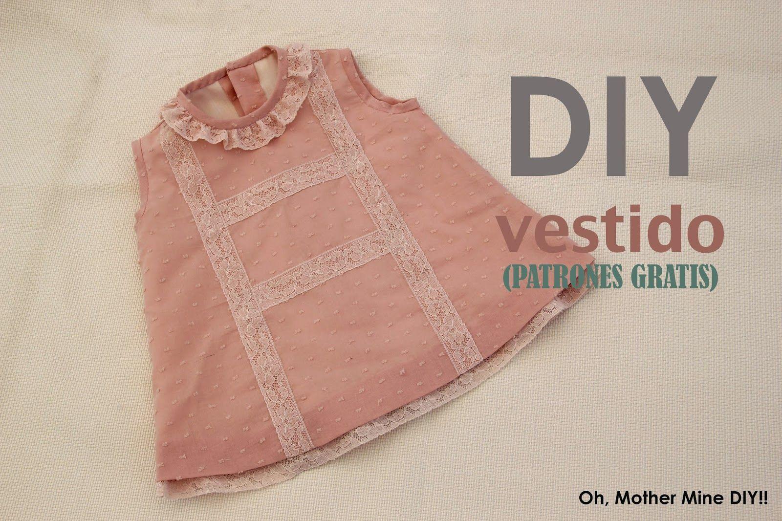 DIY Cómo hacer vestido de niña forrado muy fácil (patrones gratis ...