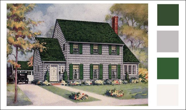 Exterior Paint Color Schemes Gray Weatherbest Color Schemes Vintage Paint Color An Green Roof House Exterior Paint Colors For House Exterior House Colors