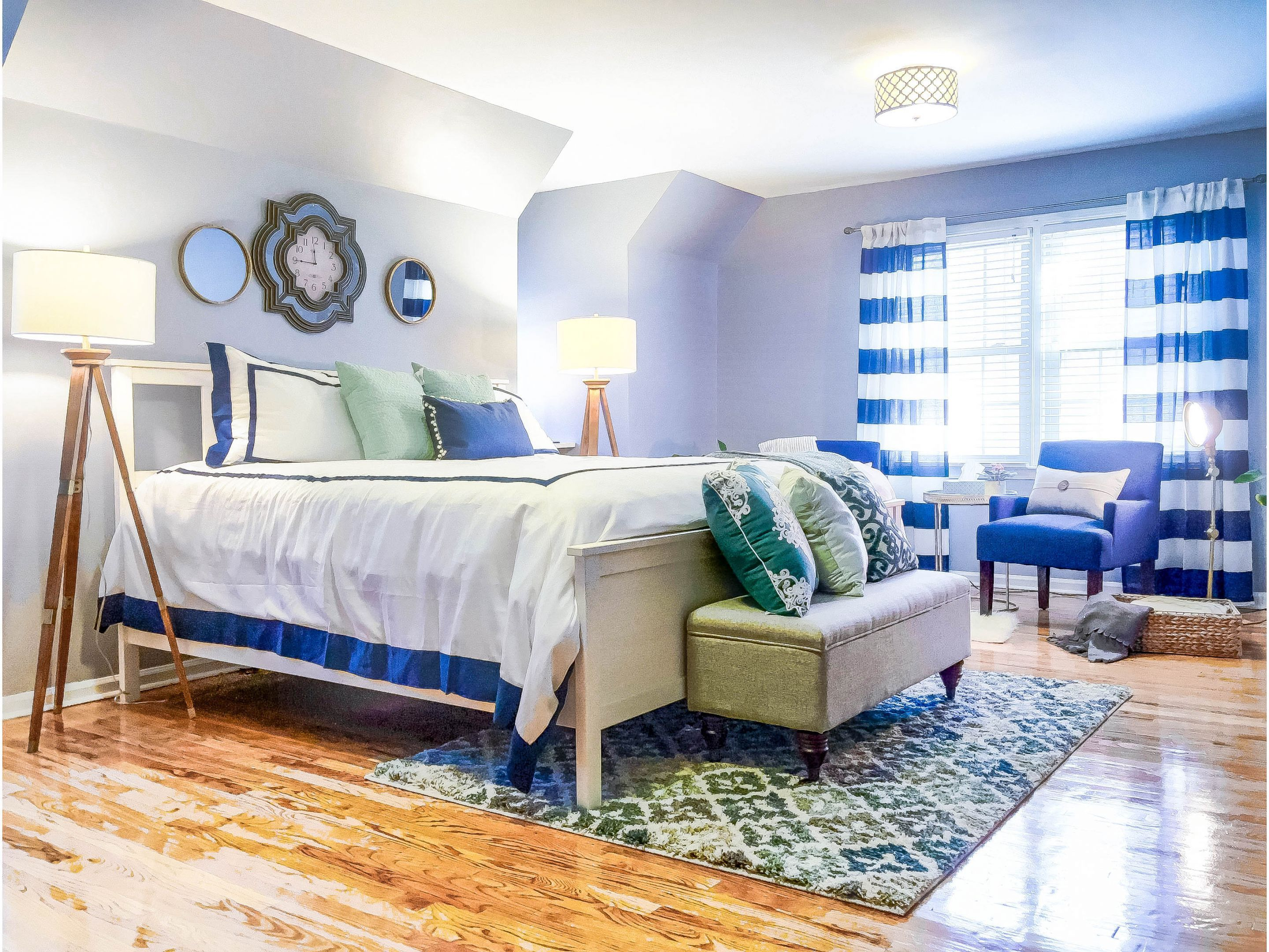 designing on a dime : before and after master bedroom tour