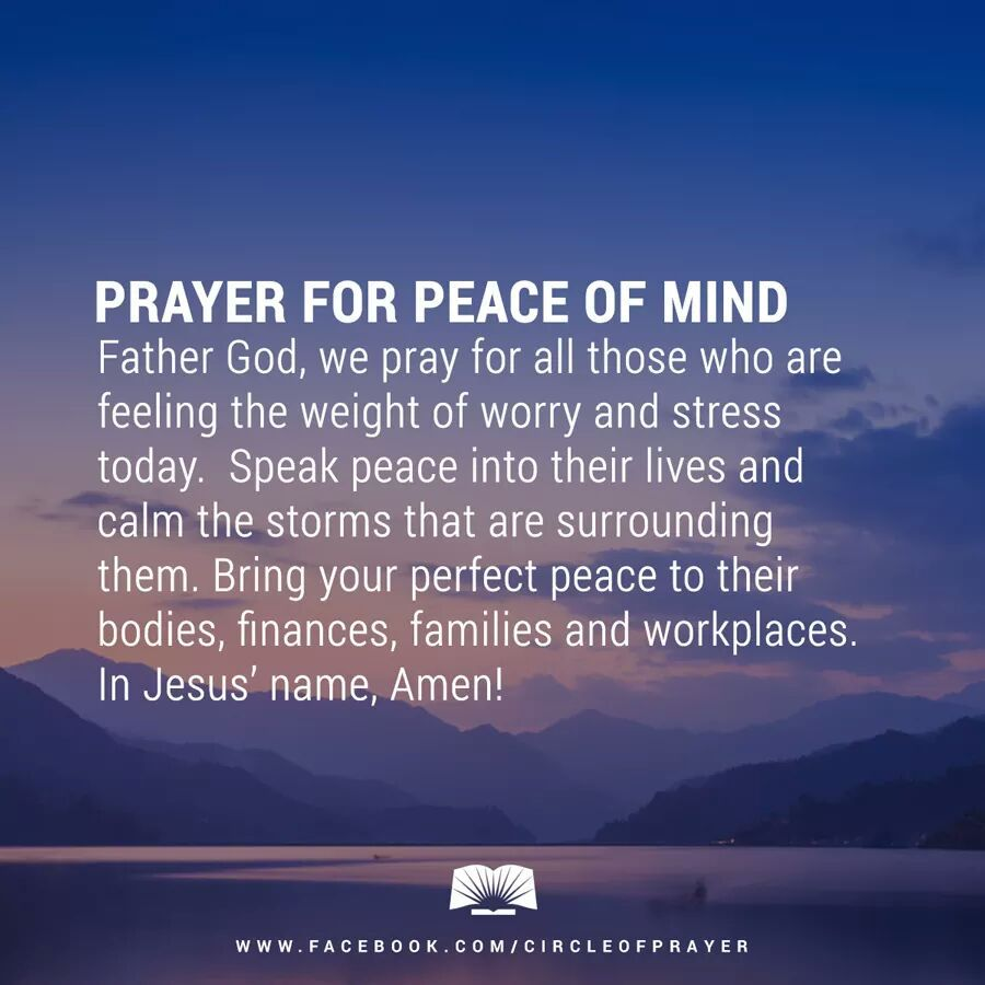 pray for peace of mind quotes