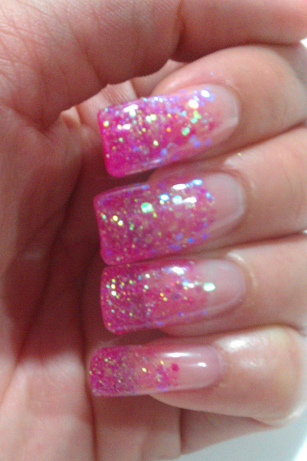 Gel Nail Designs With Glitter The Clover Beauty Inn Notd Pink