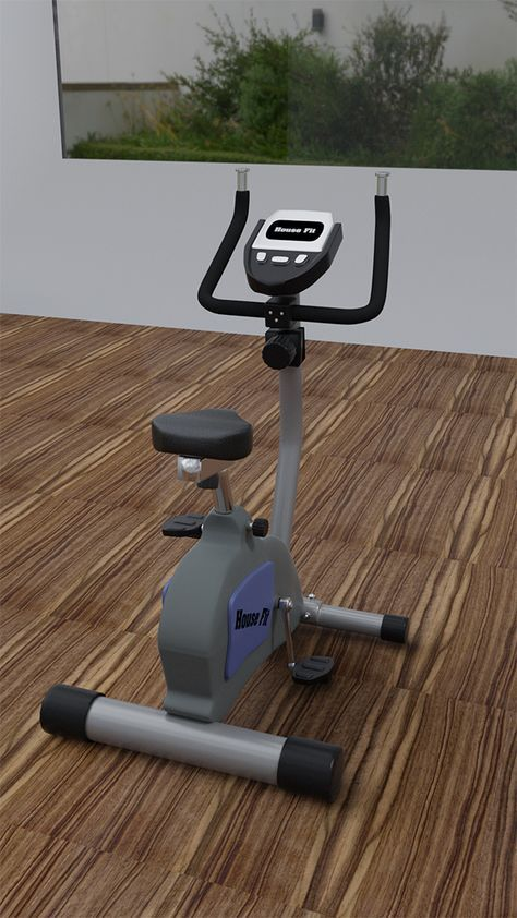 Exercise Bike 3 D. Fully customizable 3D model of bicycle. #3D #3DModel #3DDesign #bycicle #VR #AR #...