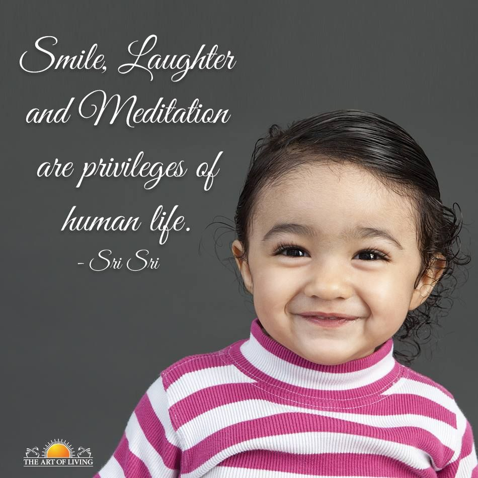 """Sri Sri Ravi Shankar Quotes On Smile: """"Smile, Laughter And Meditation Are Privileges Of Human"""