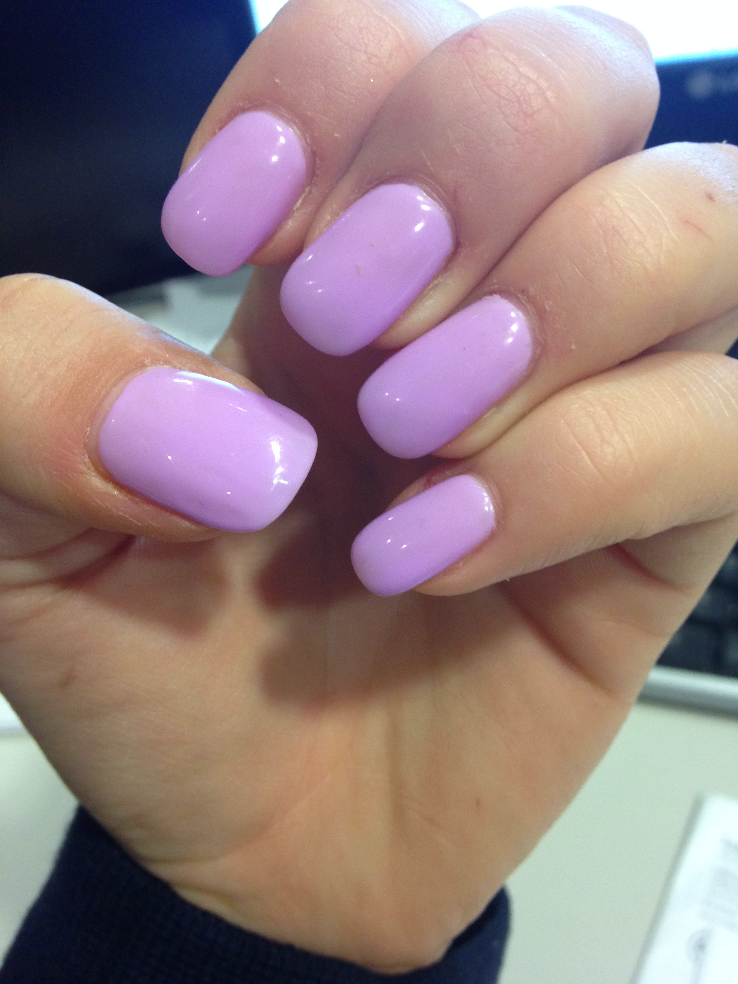 Pink Purple Square Gel Nails