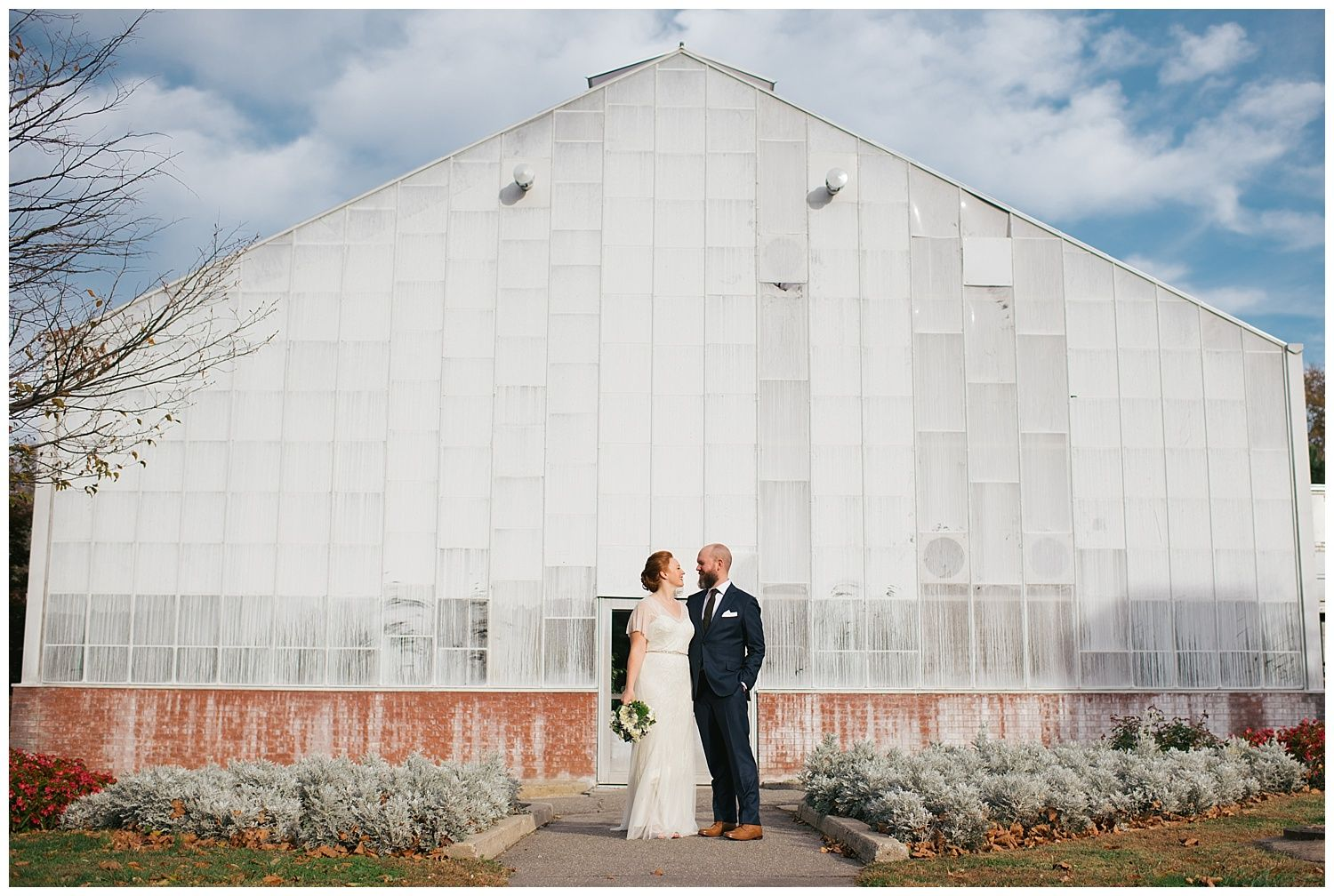 Chic Fall Wedding at The Fairmount Horticulture Center • Jessica ...