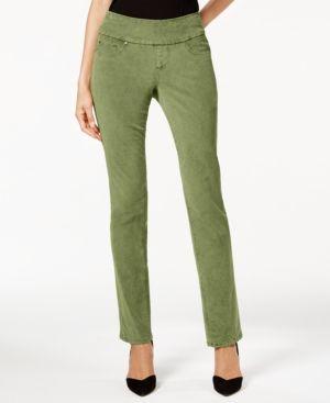 Jag Corduroy Pull-On Pants - Green 12
