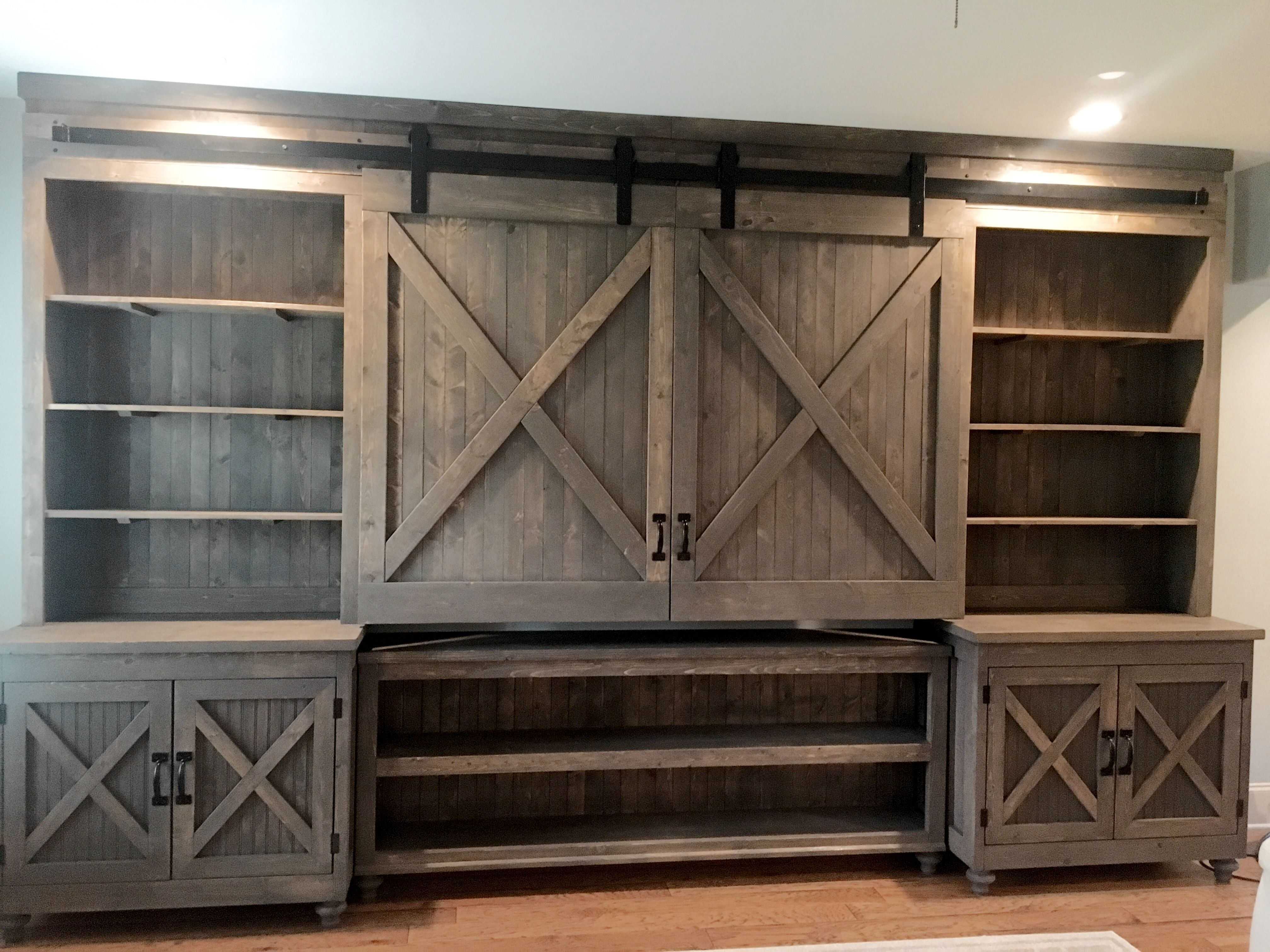 Custom Built Tv Wall Unit 14 Ft By 9 Ft