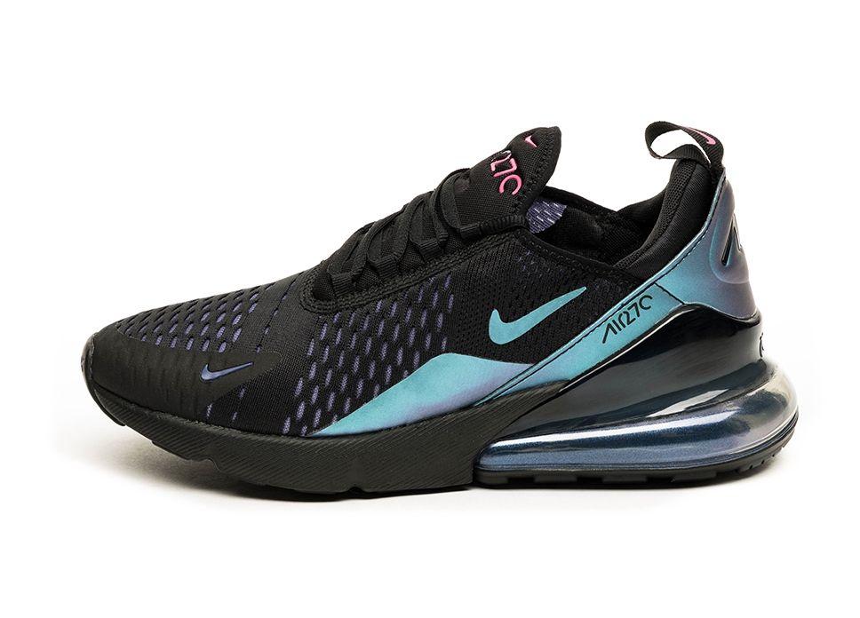 Nike Shoes Mens Air Max 270 Black Laser Fuchsia Regency