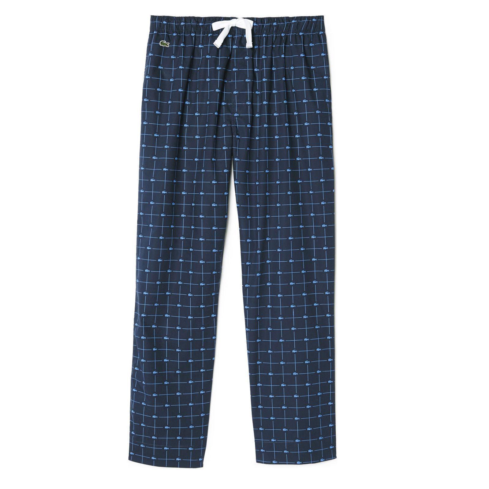 96a9bc0ca6 Lacoste Men's Croc-print Navy Lounge Sleep Pants | lacoste | Mens ...