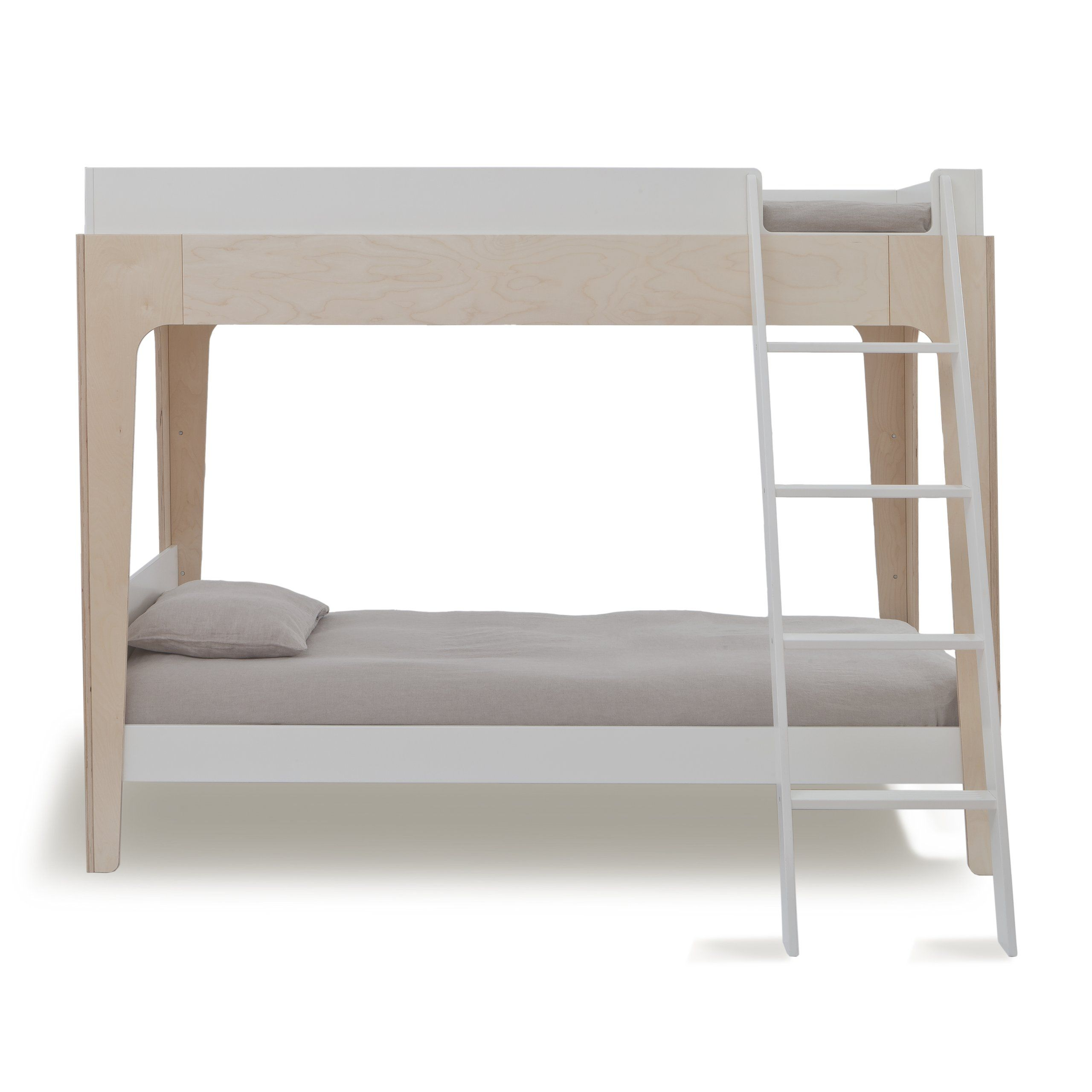 Oeuf Perch Bunk Bed Birch/White (Box 1) Bunk beds with