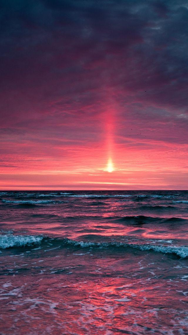 Fantasy Ocean Sunset Landscape Iphone Wallpapers Landscape