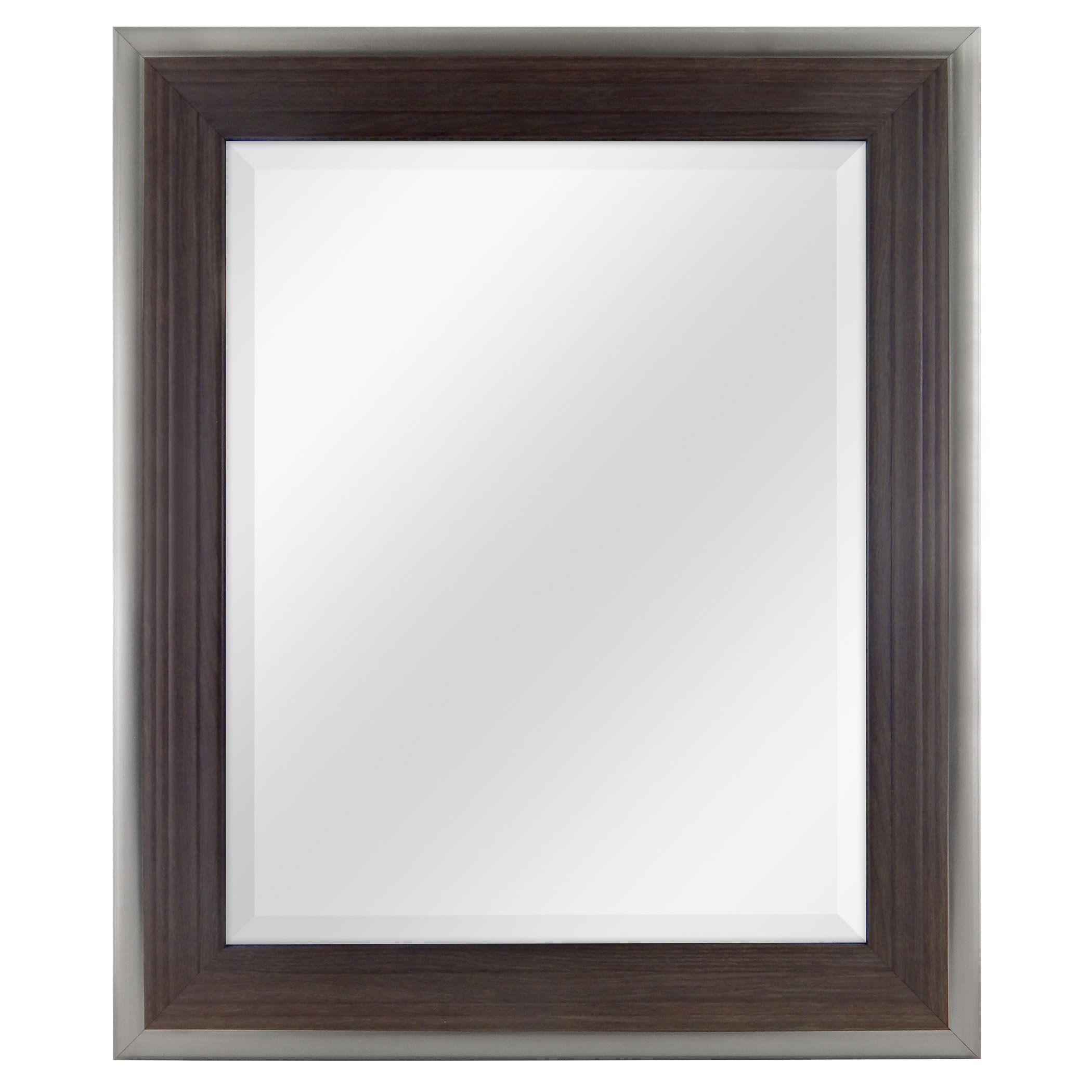 Mcs 21X25 Inch Frame With 16X20 Inch Ridged Mirror, Walnut