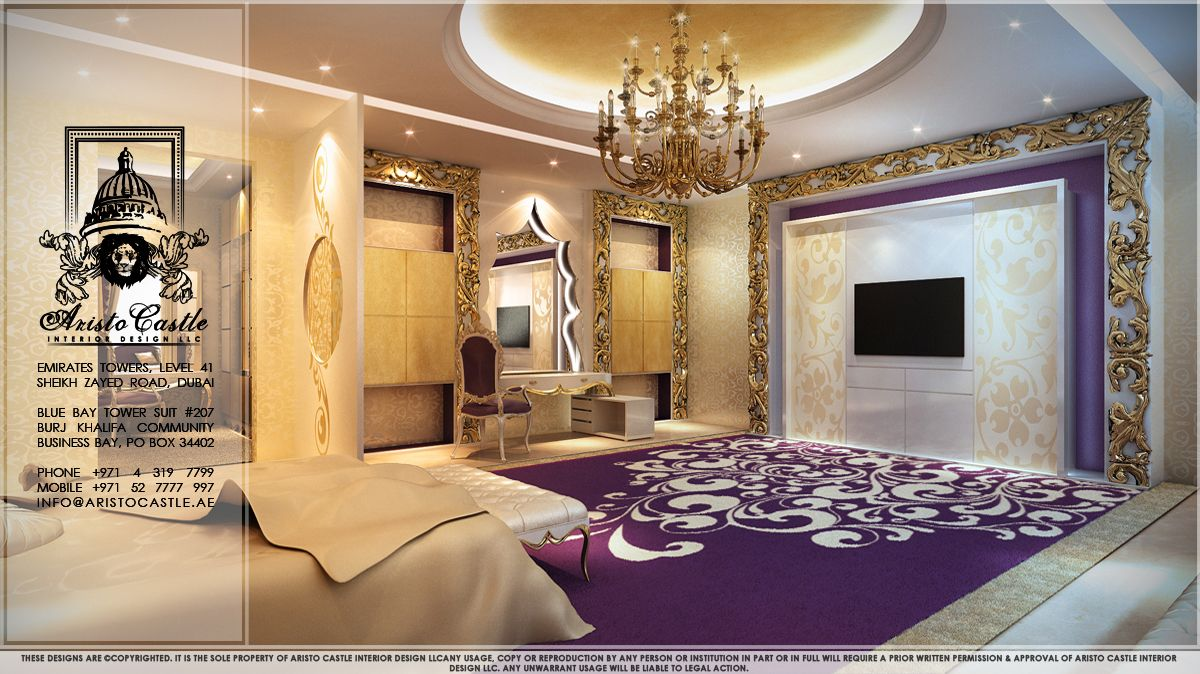 Luxurious Dream Home Master Bedroom Suite Seating Mansion Real Estate Purple Luxury
