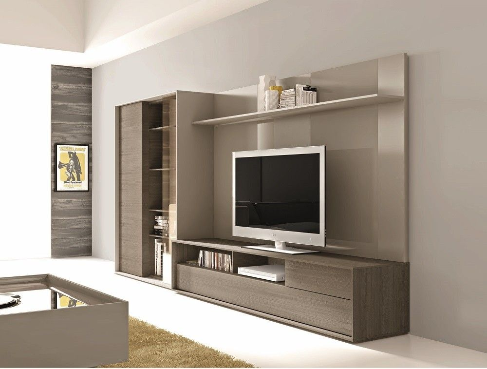J M Furniture Composition 221 Entertainment Wall System Centers