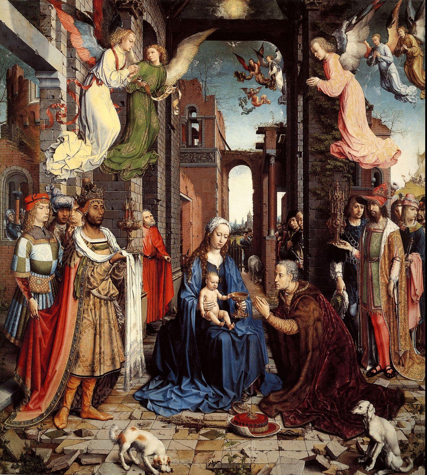 Jan Gossaert (Mabuse), Adoration of the Kings, c1510-15 [NG.London]
