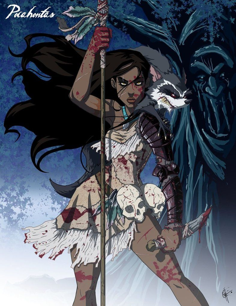 Scary Pocahontas by Jeffrey Thomas