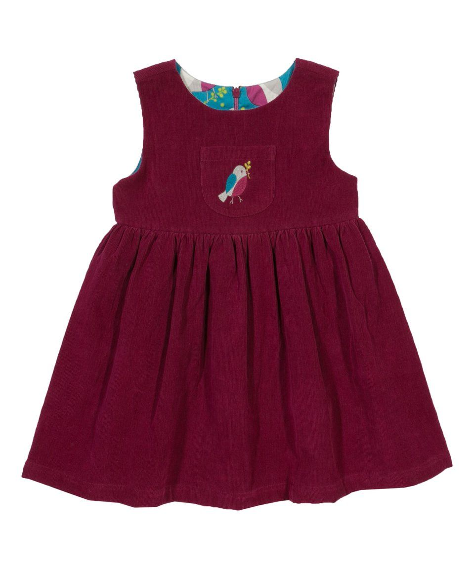 Take a look at this Burgundy Robin Reversible Organic Cotton