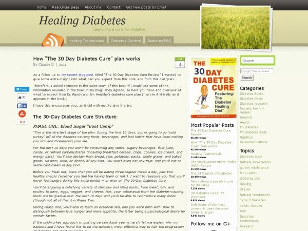 30-Day Diabetes Cure