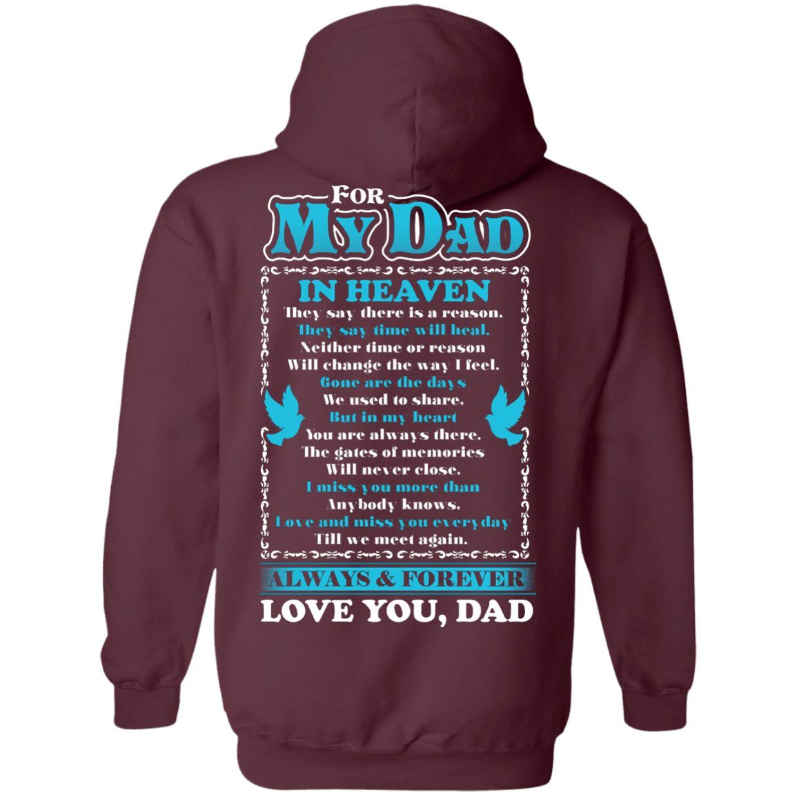 For My Dad Pullover Hoodie 8 oz