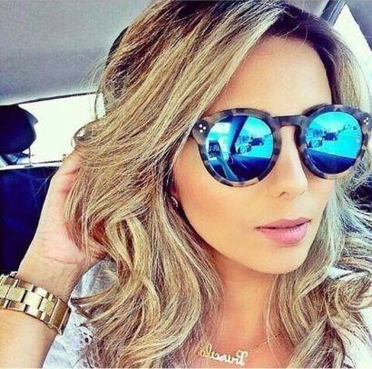 79be1c710 oculos de sol lente espelhada redondo … | Cortes de Cabello_3 | Óculo…
