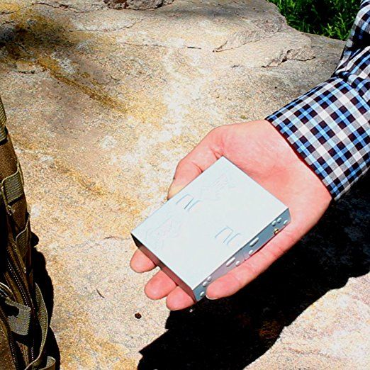 Amazon com : Pocket Stove Folding Emergency Camping Stove + 18 Solid