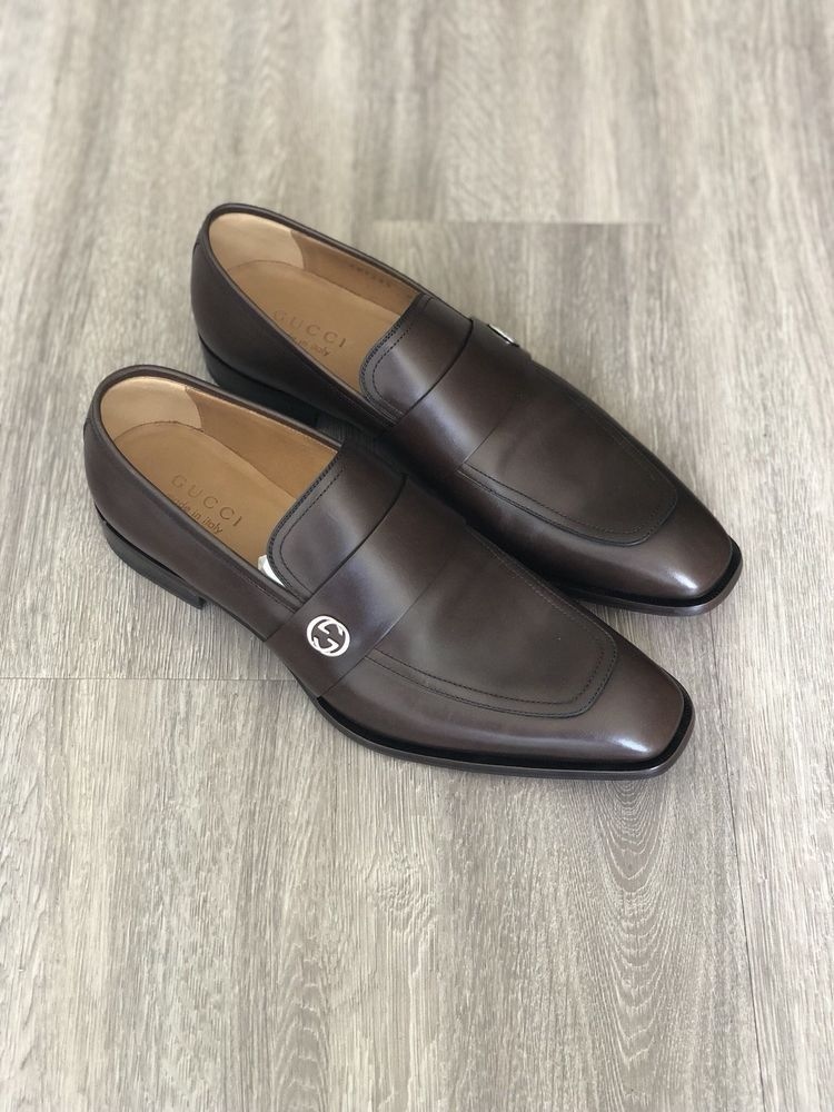 694dd2c45fc Gucci Broadwick Loafer 407295 DKG00 Cocoa Brown Men s US Size 9.5 Gucci  Size 8.5 (eBay Link)