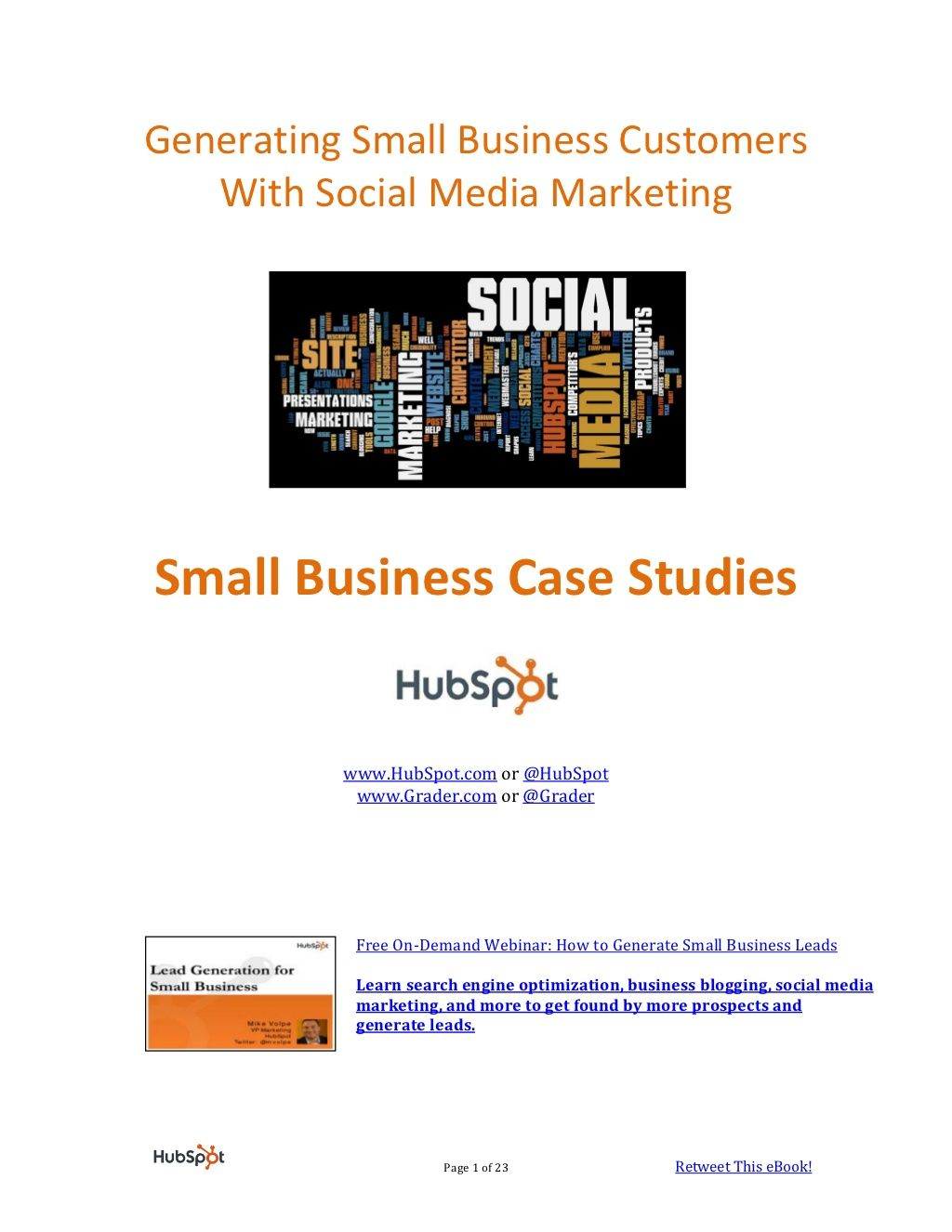 smallbusinesssocialmediaebookhubspot by HubSpot All