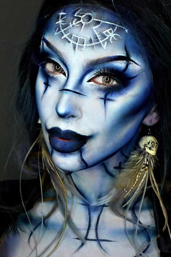 Halloween Face Makeup Ideas for a Big Party ☆ See more   - face makeup ideas for halloween