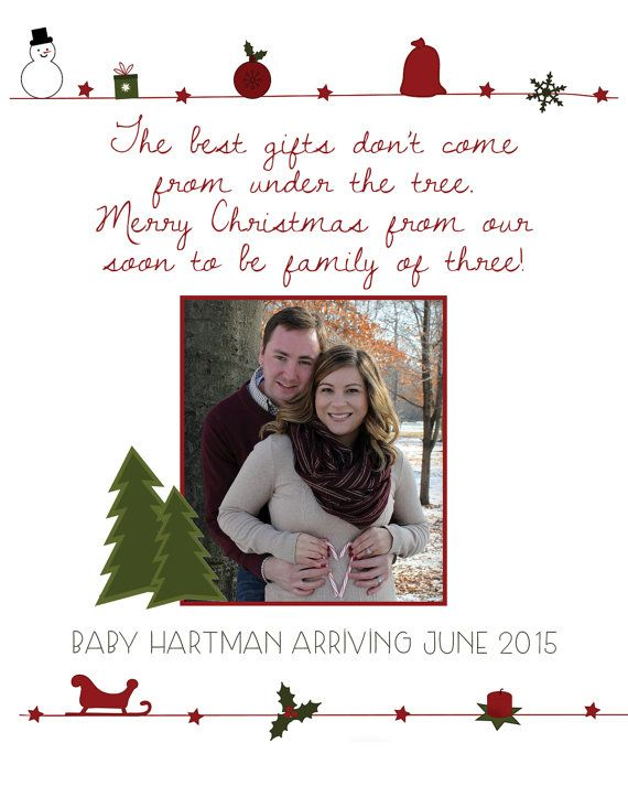 Christmas Pregnancy Announcement Baby by VintageLeeCrafted on Etsy