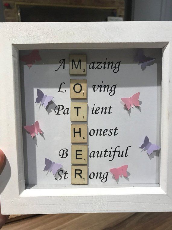 Items Similar To Mother S Day Frame Scrabble Frame On Etsy In