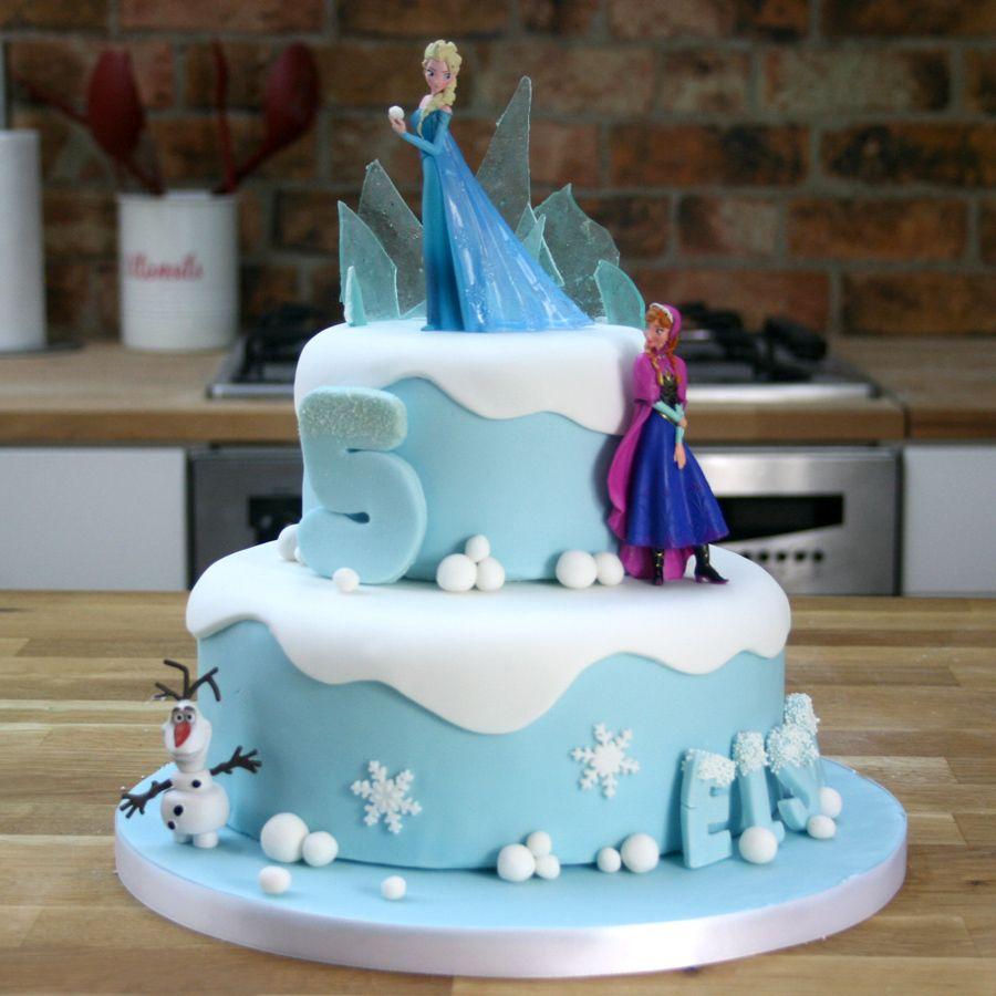 Disney Frozen Cake Tutorial TwoTier Birthday Cake Pinteres