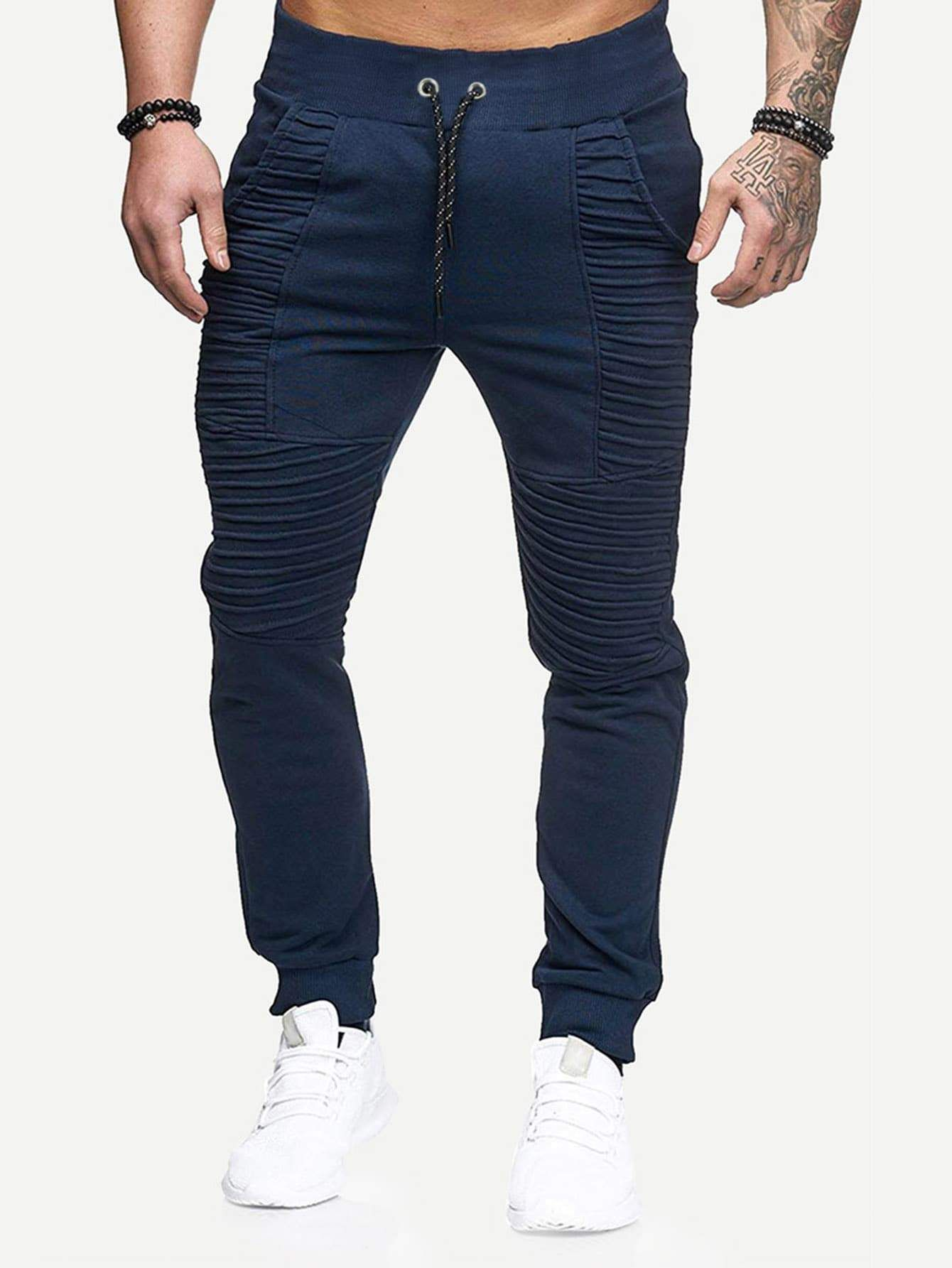 Mens Plain Camo Fleece Joggers Bottoms Jogging Pants Gym Fitness Sports Casual
