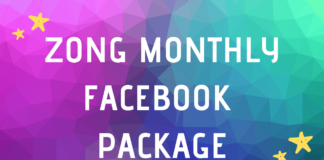 Zong Facebook Monthly Package In 2020 Monthly Packages Internet Packages Months