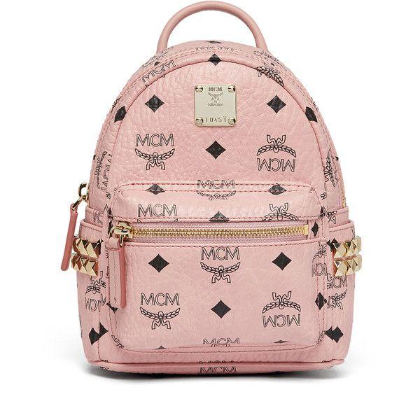 MCM Stark Bebe Boo Backpack In Side Studded Visetos (5 350