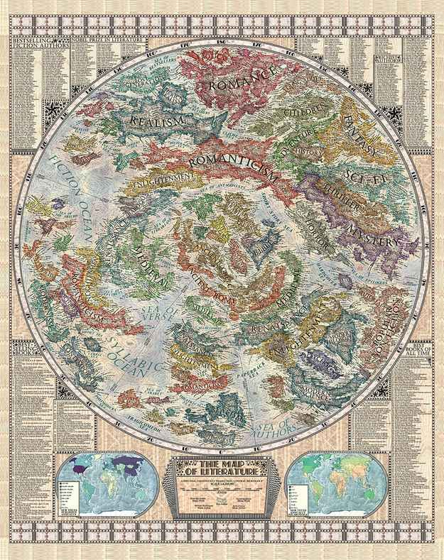 A 17 year old artist created this incredible map of literature pop a 17 year old artist created this incredible map of literature gumiabroncs Gallery