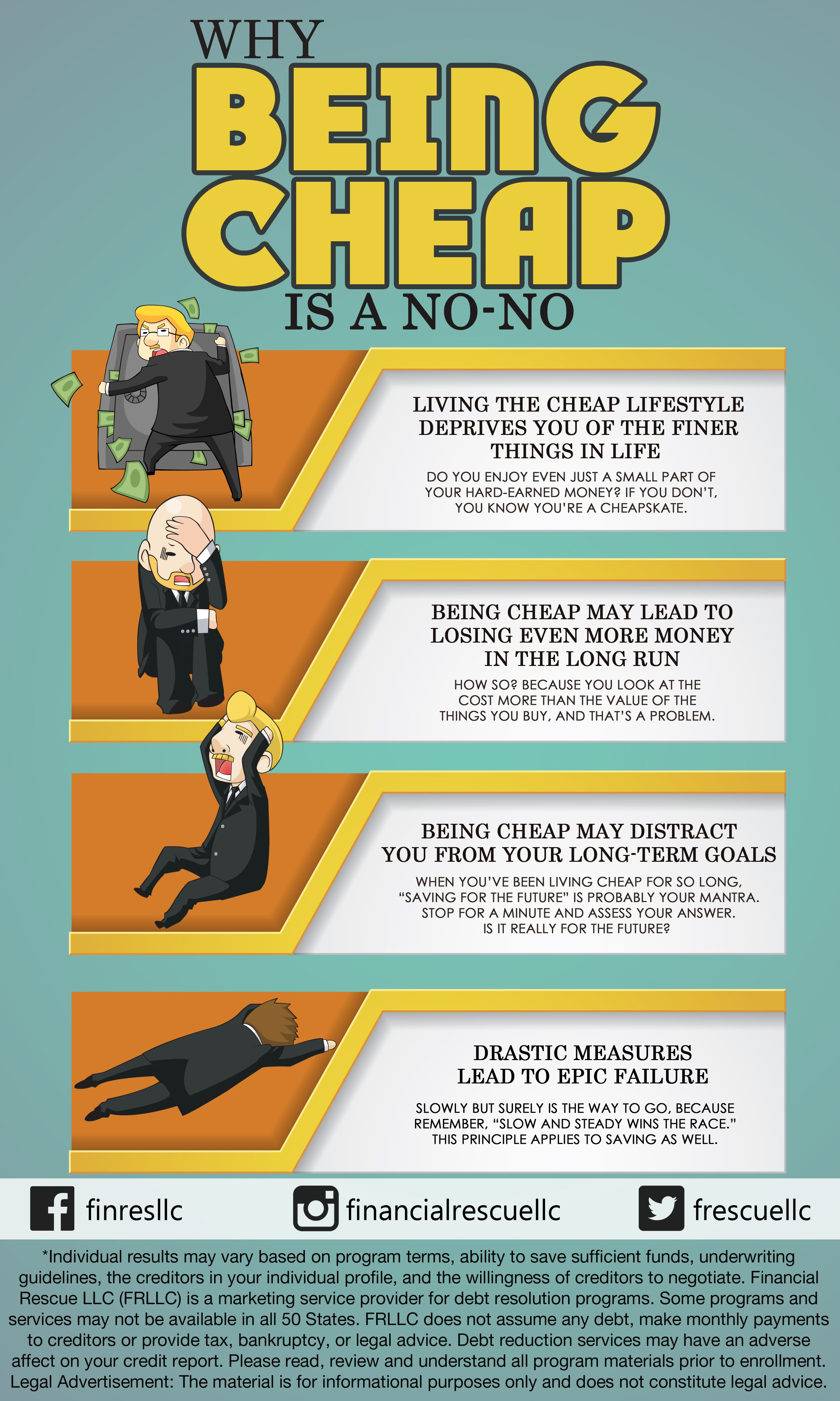 Why Being Cheap Is A No No Money Infographic Infographics Finance Personalfinance Money Debt Debtfree Budget D Finance Debt Settlement Money Lessons