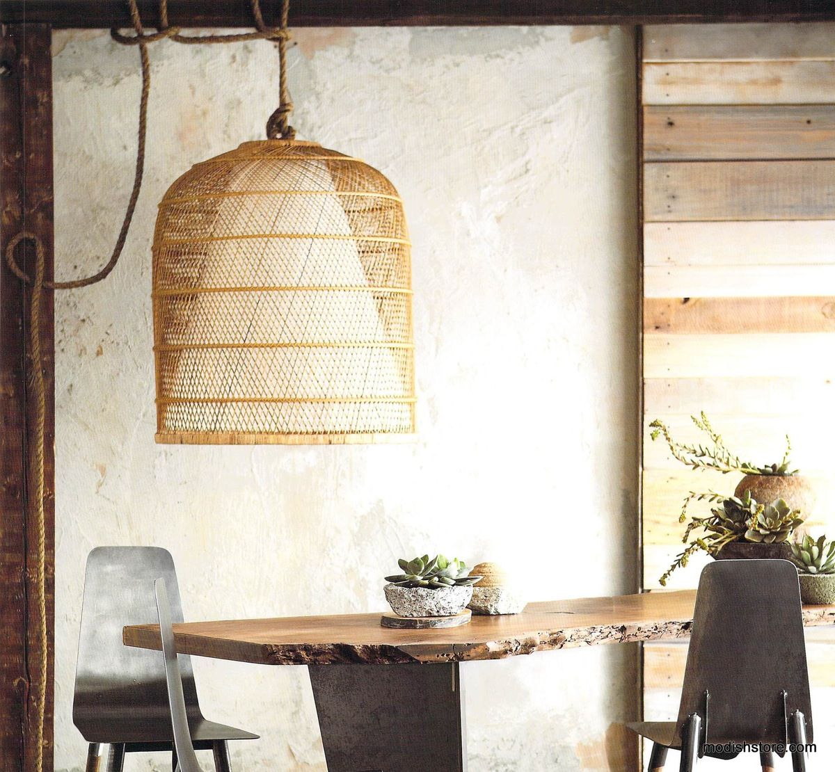 The Basket Cloche lamps by Roost are rustic yet modern Hand crafted palm  leafRoost Basket Cloche Lamp   Pendant lighting  Modern and Lights. Roost Lighting Design. Home Design Ideas