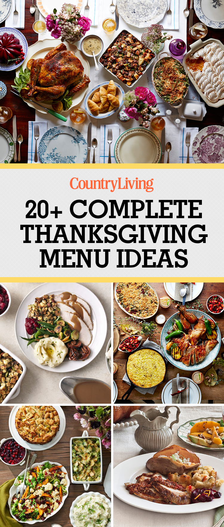 28 Thanksgiving Menus That Will Make November So Much Easier #menus