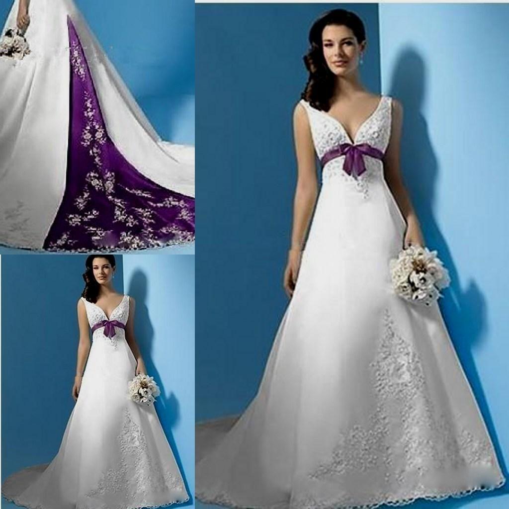 Purple And White Wedding Dress Purple Wedding Dress Ombre Wedding Dress Dye Wedding Dress