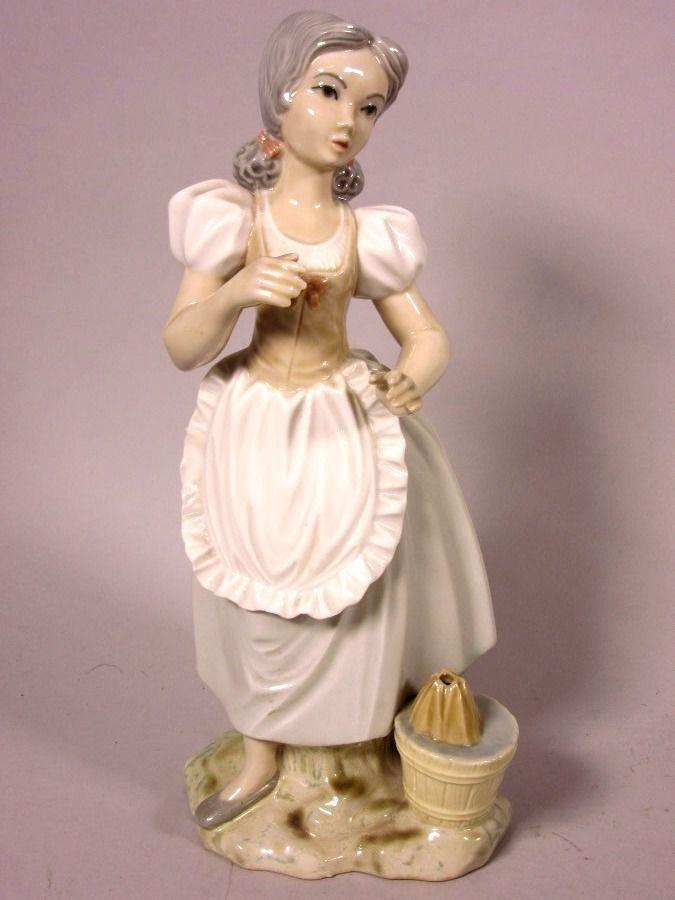"""Tengra Figurine en porcelaine """"Femme avec Tablier"""" Main Fabriqué en Espagne,env.   eBay"""